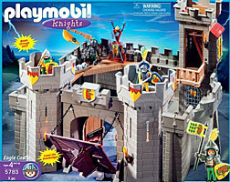 Playmobil Castle Blue Flag ship pirate knights romans flags west